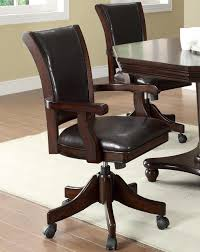 100 Wood Gaming Chair Noah Dark Mahogany Arm Game Poker S