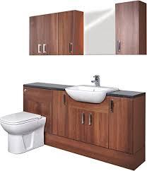 nussbaum dunkel montage badezimmer möbel waschtisch 1600 mm