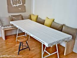 D.I.Y Pallet Dining Table - A 10-step Tutorial! Fniture Bedrooms Family Rooms Spaces Small Corner Home Kitchen Diy Easy And Unique Diy Pallet Ideas And Projects Wood Creations Patio Trellischicago With The Most Amazing Ding Wonderful Antique Room Styles Pretty 43 Pallets Design That You Can Try In Your Nightstand With Drawers Fantastic Free Rustic End 21 Ways Of Turning Into Pieces 32 Stylish To Impress Your Dinner Guests Luxpad Stunning Making A Table Ipirations Including Chairs Resin 22 Houses Boat How Make 50 Tutorials
