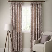 Lined Curtains John Lewis by John Lewis Faux Silk Blackout Lined Eyelet Curtains Mocha John