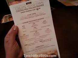The Olive Garden New Cucina Mia Menu is Yummy and ly $9 99
