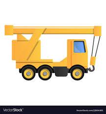100 Truck Crane Crane Icon Cartoon Style Royalty Free Vector Image