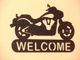 Harley Davidson Bathroom Decor by Harley Davidson Motorcycle Welcome Sign Home Decor Wall Biker