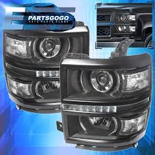 2014-2015 Chevy Silverado 1500 Black Housing Clear Projector Led DRL ... 881998 Chevy Truck 8piece Black Halo Headlights Set Wxenon Bulbs Billet Front End Dress Up Kit With 7 Single Round 1973 Lumen Ck Pickup 1964 Projector Led Dna Motoring For 0306 Silveradoavalanche 4pc Headlight 5 Inch 1958 Wiring Diagrams Schematics 03 04 05 06 Silverado 1500 Tail Lights Parking Light 9499 Suburban Blazer Headlamps Light Blue Trucks Elegant Chevrolet Colorado Crew Cab Photo 9902 1 Piece Grille Cversion Dash In 2017 Are Awesome The Drive 072014 Tahoe Avalanche Tron Style Neon Tube