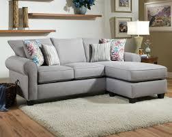 light gray sofa printed pillows fibber glacier 2 pc sectional