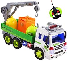 Remote Control Garbage Sanitation RC Truck 1:16 Four Channel Full ...