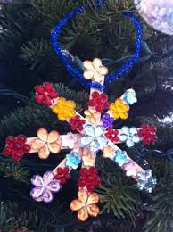 Flower Snowflake Craft Stick Ornament For Kids Christmas