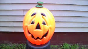 Vintage Halloween Ghost Blow Mold by Halloween Pumpkin Blow Mold Youtube