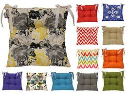 Tropik Home Colourful Seat Pad Dining Room Garden Kitchen Chair Cushion Tie On Many Colours