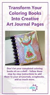 Create A Meaningful Art Journal Page Using Pages From Your Favorite Adult Coloring Books Featured