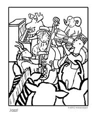 Andrea Hazard Childrens Books Jazz Coloring Page