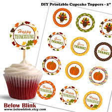 Thanksgiving Cupcake Toppers Give Thanks Printable