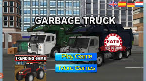 Road Garbage Dump Truck Driver [HD] - YouTube