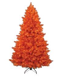 Orange Artificial Christmas Tree