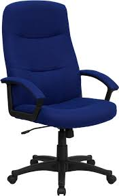 high back navy blue fabric executive swivel office chair office