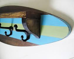 Decorative Surfboard Wall Art by Surfboard Shelf Coat Rack Project Cottage