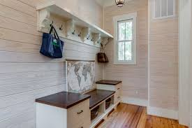 entryway bench and coat rack Entry Farmhouse with bench seat built