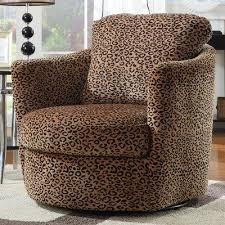 coaster 900195 swivel patterned accent chair leopard