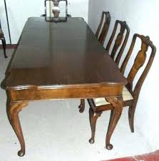 Queen Anne Dining Table Ethan Allen Antiques Atlas Walnut And