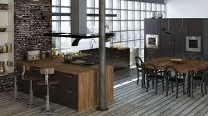cuisine loft awesome cuisine noir mat et bois 7 la cuisine loft de jean louis