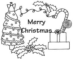 Presents And Tree Free Coloring Pages For Christmas