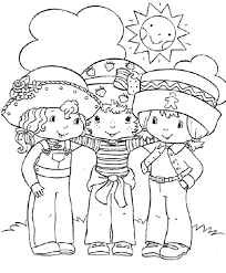 Strawberry Shortcake Coloring Page Friendship