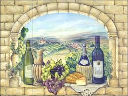 decorative tile backsplash kitchen tile ideas tuscan wine