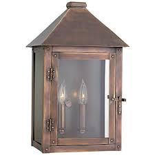 thatcher 17 1 4 high antique copper outdoor wall light 8t606