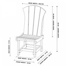 Chair Dining Room Dimensions Inches Width Long Narrow Table Within Chairs Standard