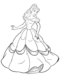 Disney Princess Beatifull And Cute Coloring Page