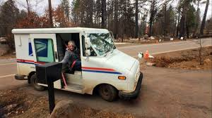 100 Postal Truck Fire After Losing Her Home To Wildfire Paradise Postal Carrier Finds