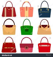 set womens handbags womens bag flat stock vector 634616363
