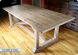 Dining Room Tables Plans Rustic Yet Refined X Table Knock Off Decor