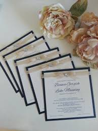 Beach Theme Shell Rustic Wedding Invitations Navy Blue Sydney Australia