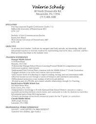 Kindergarten Teacher Resume Elegant Preschool Examples Objective Of