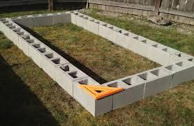 Bold Inspiration Concrete Block Raised Garden Bed Design Cinder