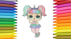 How To Draw LOL Surprise Unicorn Dolls Coloring Pages For Kid Children Learn CumSeFace