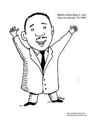 Martin Luther King Jr Coloring Printable