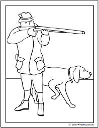 Hunting Dog Coloring Page