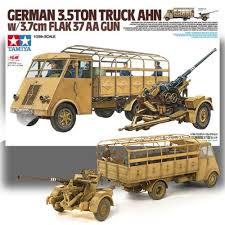 100 Ton Truck TAMIYA 135 GERMAN 35TON TRUCK AHN W 37CM FLAK 37 AA GUN MODEL