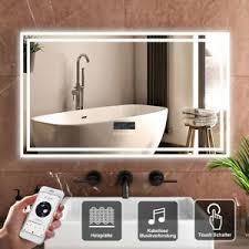 details zu badspiegel led mit beleuchtung touch anti beschlag bluetooth lautsprecher 100x60