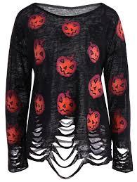 Halloween Date 2014 Nz by Pumpkin Ripped Halloween Knitwear Black Xl In Sweaters