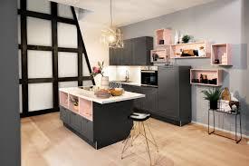haecker hausausstellung 2018 lotus graphit küche rosa grau