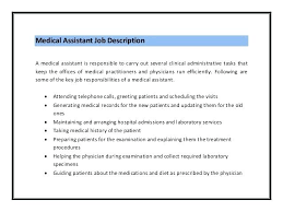 Duties A Medical fice Assistant The Duties And Work