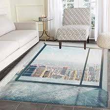 de moderner teppich für schlafzimmer leer loft
