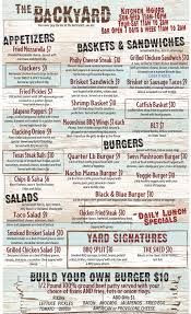 Backyard Bbq Menu Pictures On Appealing Backyard Sports Bar And ... Santa Bbara Backyard Bowls Menu A Fine Swine Bbq Restaurant Wants To Be Your New Favorite In Lagosblog Stone House The Inn Bar Waco Home Outdoor Decoration Weekend Brunch Louies Newberrys Baguio Ding La Carte Menus X Marks The Spot W Hotel Westwood Los Angeles Michael Mina 74 Transforming Into Pizza Burger Michaels Yard Of Ale Punjabi Bagh Delhi Dineout Reserve