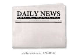 Mock Up Of A Blank Daily Newspaper With Empty Space To Add Your Own News Or