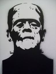 Free Frankenstein Pumpkin Stencil Printables by Dracula Silhouette Frankenstein Outline Drawing Frankenstein