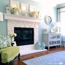 Painted Stone Fireplace Ideas Best Image Voixmag