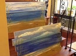 House Paintings Ocean Beach Scape Pallet Art